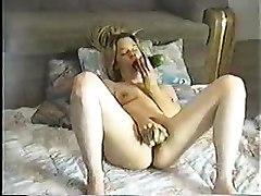 Girl Masturbating Using Cucumber