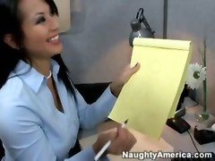 Two Hot Office Babes Fuck Co-worker