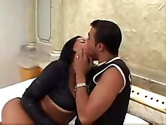 Posh Brunette With Big Breast Smashed