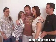Two Sluts Having A Tampa Bukkake Mini Orgy