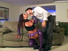 Pretty Maid Fucks In Latex Lingerie