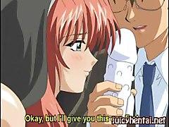 Anime Babe Gets Masturbated With A Dildo