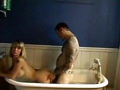 Blonde Blowjob In Bath