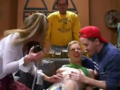 Drunk Sluts Get Fucked In A Frat House