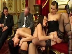 Three Young Whores Invite Businessmen To An Orgy