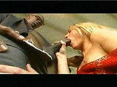 Blonde Split In Half On Piano Bench!