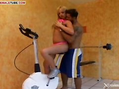 Sex With Tranny In A Gym