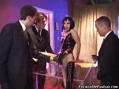 Hot Slave Girls Servicing Hard Cock