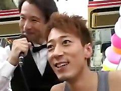 3 Pantyless Jap Cheerleaders