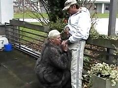 German Fat Woman Sucking And Fucking In Public
