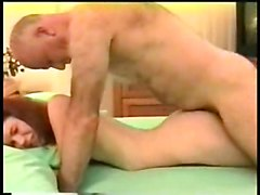 Naked Teen Chick Lies On Her Belly Then Gets Wet Pussy Fucked By Mature Old Man