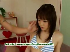 Mai Uzuki, Asian Beauty Gets Nipples Licked And Kissing