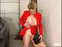 Mother And Son Fucks In Garage