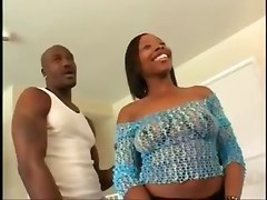 Ebony Couple Has Real Fucking