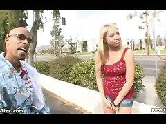 White Blonde Pleases Ebony Rod