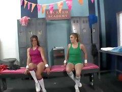 Schoolgirls Having Fun In The Locker Room