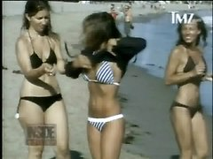 Carmen Electra Bikini Video On The Beach