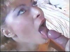 Hot Blonde Swallows Cum