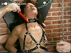 Beautiful Slave Got Her Tiny Tits And Wet Pussy Covered With Hot Candle Wax And Is Spanked On Her Ass By Her Master