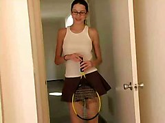 Tennis Girl Erika Plays On Bed