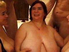 Hot Chubby Mature Orgy
