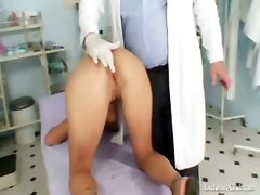 Kinky Gyno Exam At Gyno Clinic With Old Bizarre Doctor