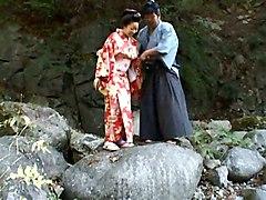 Jav Chichi Hime - Outdoor Kimono Cosplay